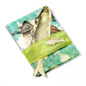 Dresdner Pappe Dekorationsidee mit goldenem Fisch