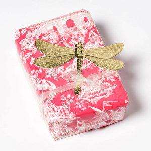 Libelle für Geschenkverpackung Dresdener Pappe