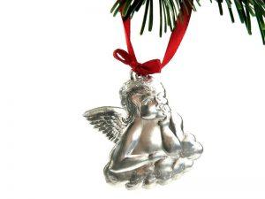geprägter plastischer Engel als Weihnachtsbaumschmuck