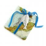 Dresdner Pappe silber geprägtes Fischmotiv für Geschenkverpackung