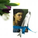 DIY Notizbuch mit silbernem Fisch