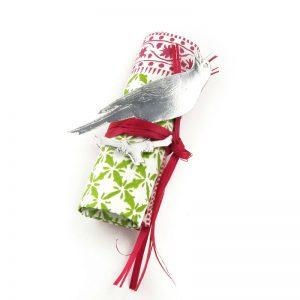 Dresdner Pappe Tischdekoration mit geprägtem Vogel