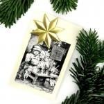 Dresdner Pappe Weihnachtskarte mit 3D Stern DIY