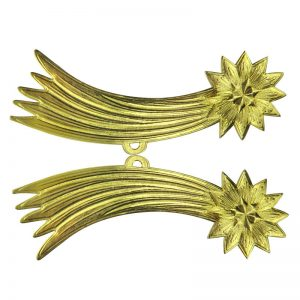 Dresdner Pappe 3D goldene Sternschnuppe