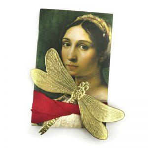 Dresdner Pappe geprägte Libelle