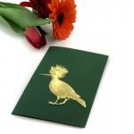 Dresdner Pappe goldener geprägter Vogel