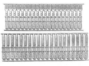 Dresdner Pappe silbernes geprägtes Besteck
