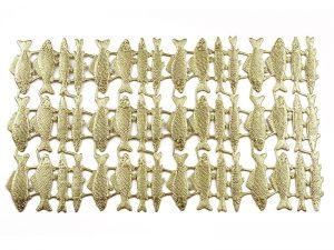 Dresdner Pappe geprägte Fische metallisch