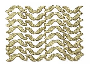 Dresdner Pappe Flügel geprägt in silber und gold zum Dekorieren