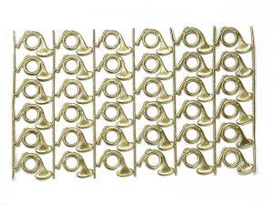 Dresdner Pappe Jagdhorn geprägt zum basteln metallisch
