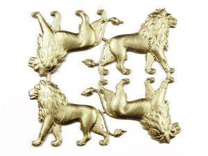 Dresdner Pappe Löwe Set geprägt historisch und antik