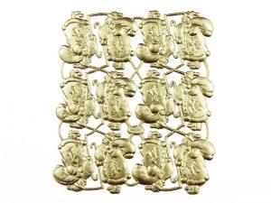 Dresdner Pappe Nikolaus auf Goldpapier geprägt