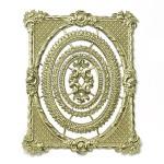 Dresdner Pappe geprägte Rahmen historisch