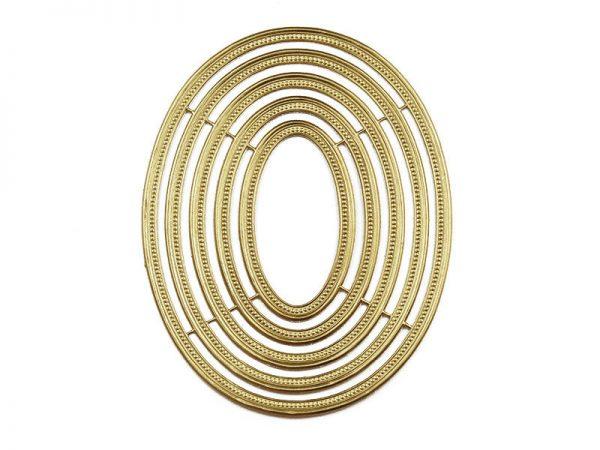 Dresdner Pappe ovale Rahmen für Bilder und Dekoration
