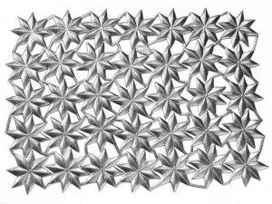 dreidimensionale Sterne Dresdner Pappe