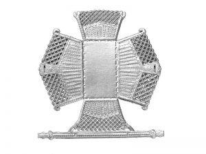Dresdner Pappe Körbchen mit Henkel zum basteln