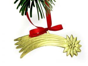 Sternschnuppe in gold als Weihnachtsdeko