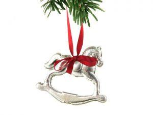 Weihnachtsschmuck Schaukelpferd aus Pappe