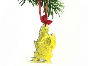 Weihnachtsmann aus Pappe gold