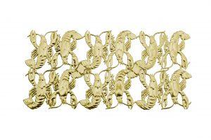 3d Tiere aus Pappe Krebs gold