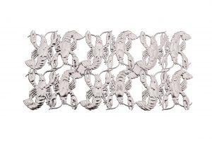 3d Tiere aus Pappe Krebs silber