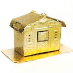 Weihnachtsdeko Knusperhaus gold