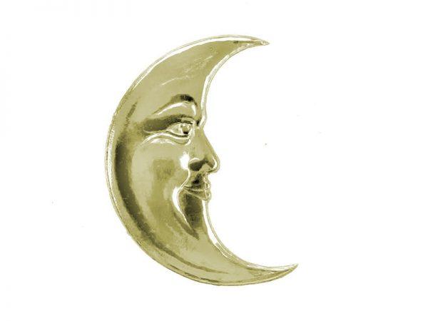 Mond aus gold in Pappe