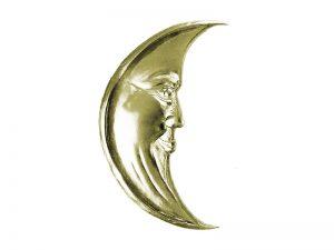 Mond aus gold Pappe