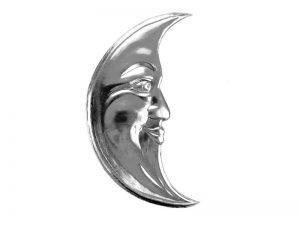Mond aus silber Pappe