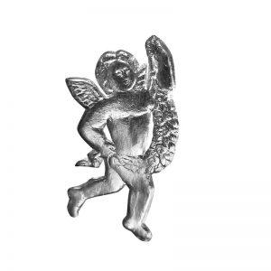 silberner Engel aus Pappe