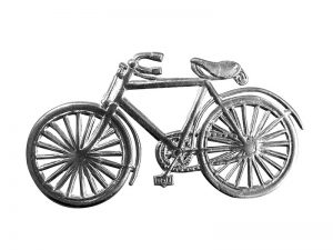 Fahrrad pappe silber