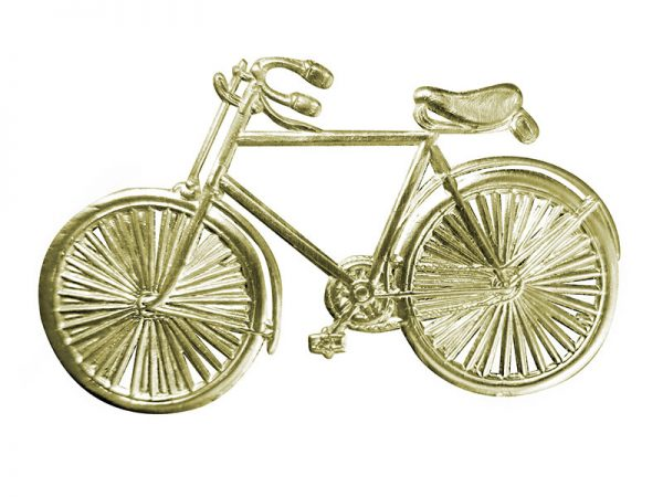 Fahrrad pappe silber klein