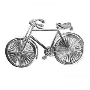 Dresdner Pappe Fahrrad silber