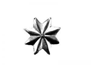 Stern mini aus Pappe silber