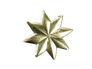Stern klein aus Pappe gold