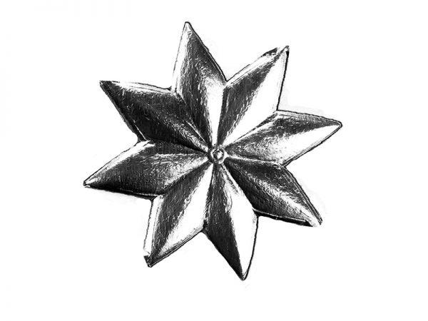 Stern klein aus Pappe silber