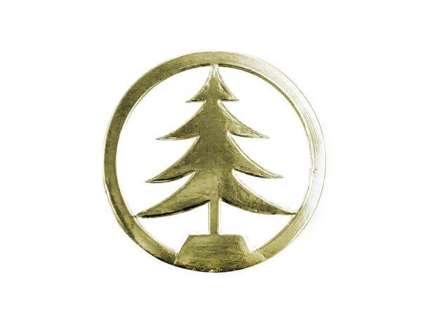 Tannenbaum aus Pappe gold
