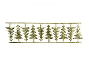 Weihnachtsbäume Pappe gold
