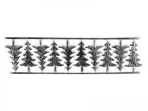 Weihnachtsbäume Pappe silber