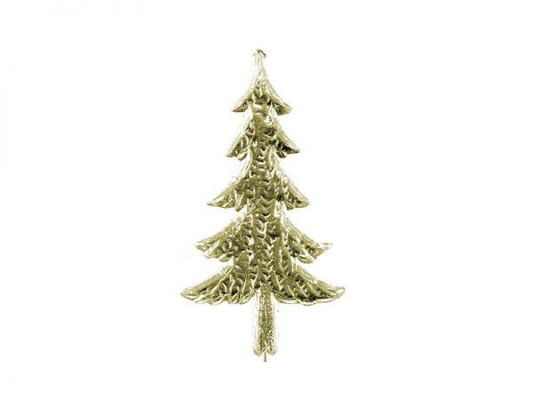 Weihnachtsbaum Pappe gold