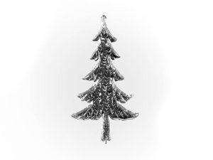 Weihnachtsbaum Pappe silber