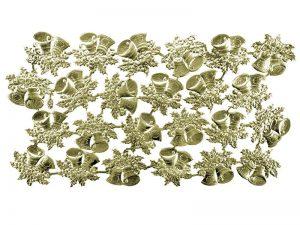 Viele Glocken aus Pappe gold