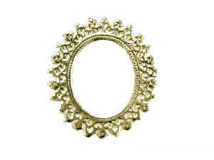 ornamente rahmen oval gold