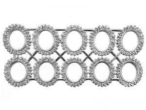 ornamente rahmen rund silber
