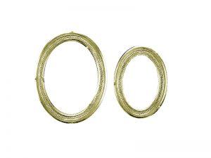 rahmen ornamente oval gold