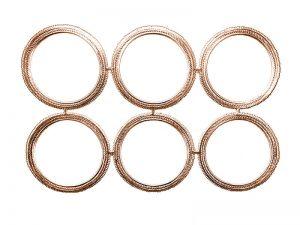 Rahmen - Ornamente Bogen Altgold rund