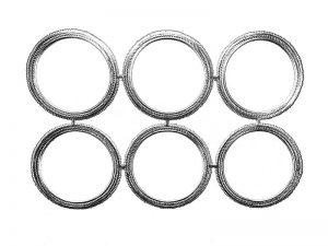 Rahmen - Ornamente silber rund