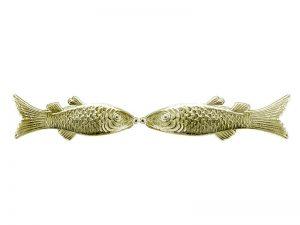Fische aus Pappe gold