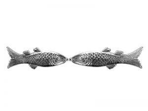 Fische aus Pappe silber