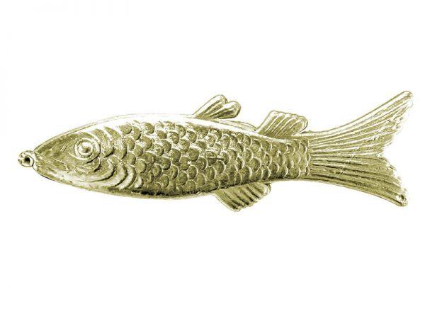 Fisch aus Pappe gold